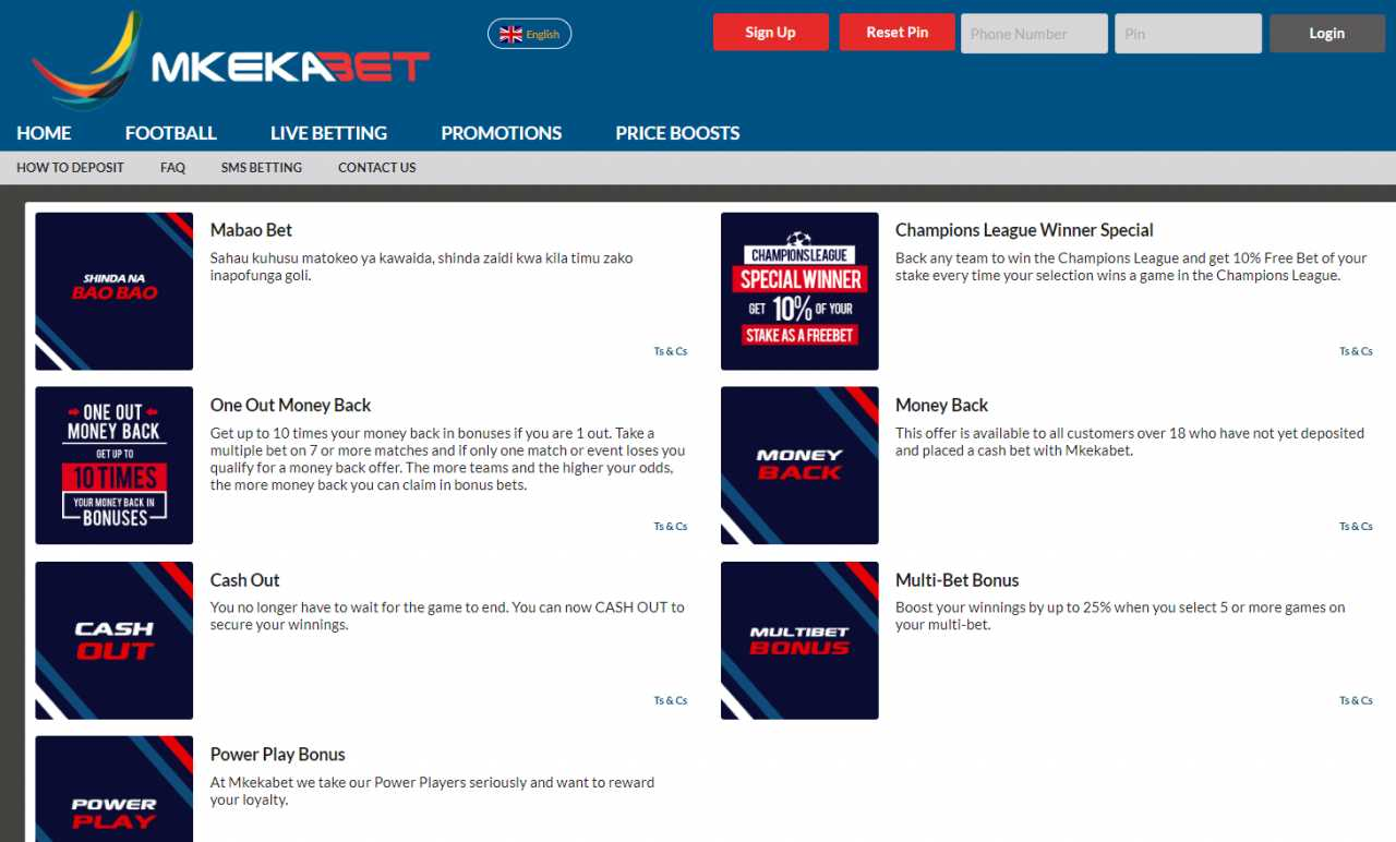 How to receive a bonus for your bets at MkekaBet?